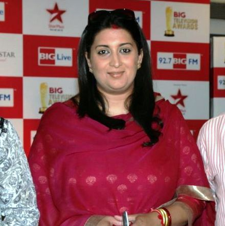 Smriti Irani at BIG Awards Jury Press Meet. Photo: FilmiTadka