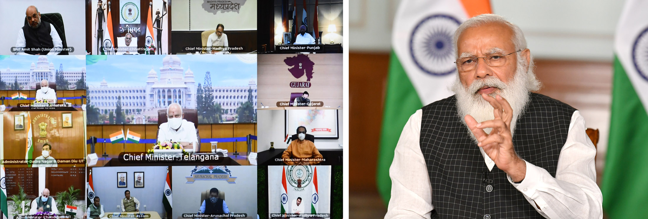 PM interacts with chief ministers over Covid-19